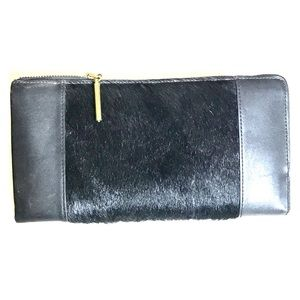 Phillip Lim Leather and Calf Hair Wallet/Clutch